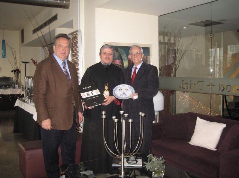 Δελτίο Τύπου συνάντησης του Σεβασμιότατου Μητροπολίτη Άκκρα Γεωργίου με τον Πρόεδρο του Κέντρου Οικουμενικός Ελληνισμός